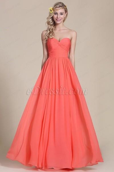 Koralle Brautjungfer Kleider, eine gut Auswahl für Ihre Hochzeit ...